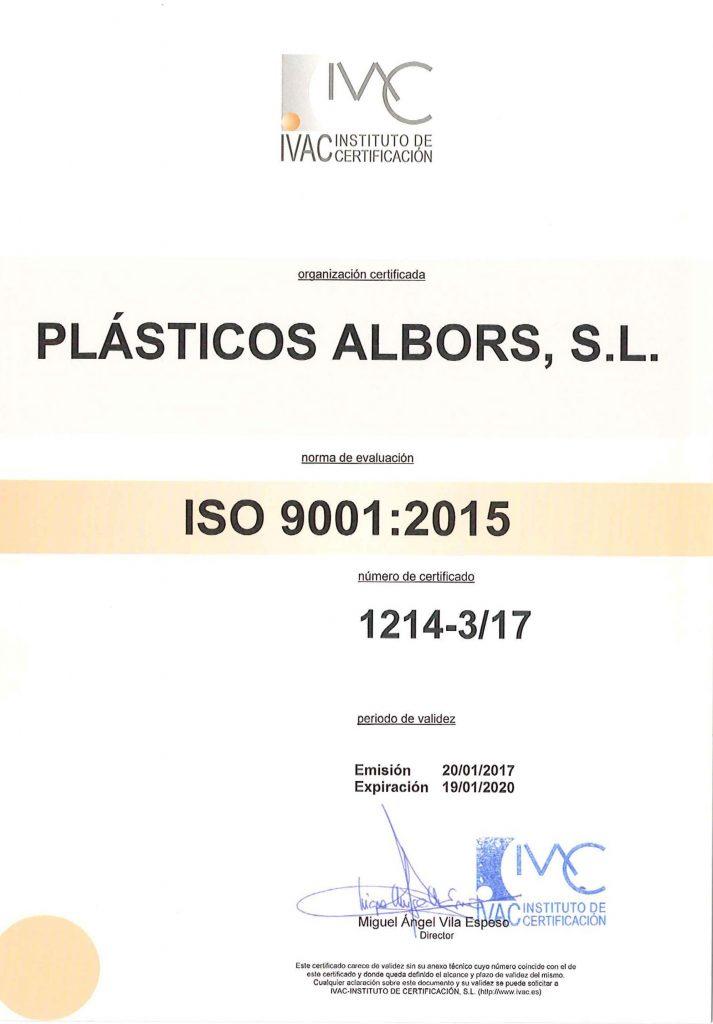 Política de Calidad de Plasticos Albors S.L.